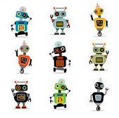Little robots set 3 — Stock Vector