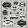 Vintage labels frames design elements — Stock Vector