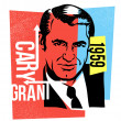 Vector graphic design cary grant — Stock Vector