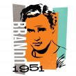 Vector graphic design marlon brando — Stock Vector