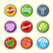 Retro bottle cap designs set 1 — Stock Vector #34701169