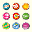 Retro bottle cap designs set 1 — Stock Vector #34701175