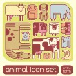 Farm animals set — Imagen vectorial