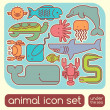 Seanimals set — Stock Vector #36932509