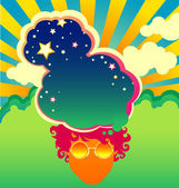 Psychedelic poster template — Stock Vector