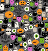 Cute halloween icon pattern — Vecteur
