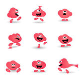 Cute bubble gum cartoon character icon — Stock Vector