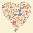 Paris France Icons Landmarks and attractions — Stock Vector #51043101