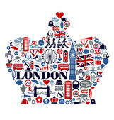London Great Britain United Kingdom culture icons landmarks and attractions — 图库矢量图片