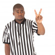 Stock Photo: Close up of black referee calling two shot foul