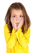Young girl with confused facial expression — Stock Photo