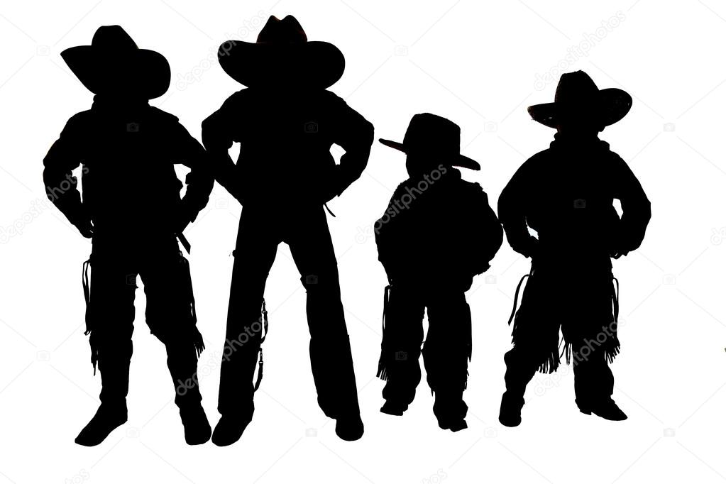 Cowboy Hat And Boot Silhouette Silhouette of Boys Wearing Cowboy Hats Boots Photo by Sixdays24