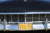 Sixties classic car front end and license plate — Zdjęcie stockowe