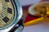 Stary radziecki zegarek i gwiazdy lenina — Zdjęcie stockowe
