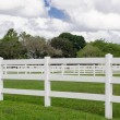 White picket fence — Stock Photo #40032657