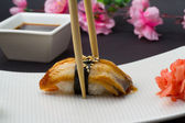 Eel sushi nigiri — Stock Photo