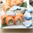 Philadelphia and california roll — Stock Photo