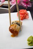 Eel sushi nigiri — Stock Photo