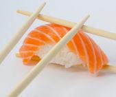 Isolated salmon sushi nigiri — Stock Photo