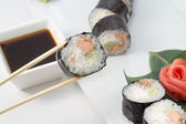 Sushi roll in nori — Stock Photo