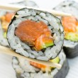 Sushi rolls in nori — Stock Photo