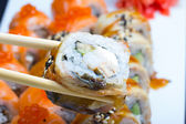 Canada sushi roll — Stock Photo