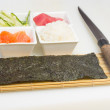 Ingredients for making sushi — Stock Photo