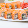 Philadelphia sushi roll — Stock Photo
