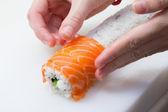 Ingredients for making sushi — Stock Photo