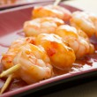 Shrimp shashlik — Stock Photo