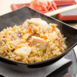 Rice with seafood — Stock Photo