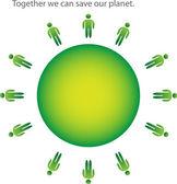 Green earth concept — Stock Vector