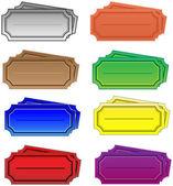 Color tickets — Stok Vektör