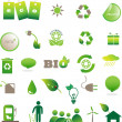 Eco icons — Stock fotografie