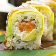 Sushi roll with avocado — Stock Photo