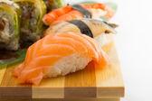 Lachs-sushi nigiri — Stockfoto