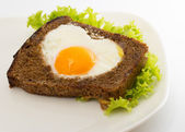 Sandwich with egg and salad — Stock Photo