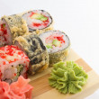 Sushi tempura roll — Stock Photo