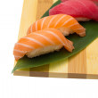 Stock Photo: Salmon and tunsushi nigiri