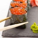 Gunkan sushi maki isolated on white background — Stock Photo #36822455