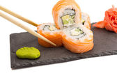 Sushi roll isolated on white background — Stock Photo