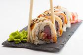 Sushi roll isolated on white background — Stock Photo