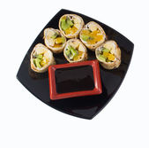 Sweet sushi roll — Stock Photo