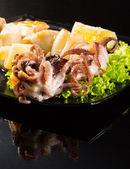 Seafood shashlik — Zdjęcie stockowe