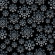 Seamless snowflake background — Stock Vector