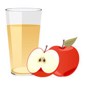 Apple Juice with apples — Stock Photo