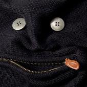 смешное лицо свитер с застежкой — Стоковое фото