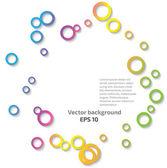 Pozadí abstraktní barevné kruhy — Stock vektor