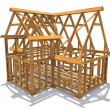 Frame construction — Stock Photo
