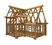 Frame construction — Foto de Stock